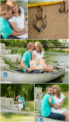Fishing Engagement Session...how cool and personal is this! Photo by Jeannine Marie Photography