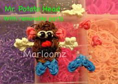 Rainbow Loom Mr. Potato Head with Removable Pieces. Designed and loomed by MarloomZ Creations 3/22/14