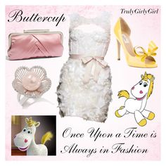 """""""Disney Style: Buttercup"""" by trulygirlygirl ❤ liked on Polyvore featuring Valentino, Monique Lhuillier, Glint, toy story 3, buttercup, trulygirlygirl and disney"""