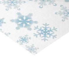 Soft Blue Snowflakes - Tissue Paper