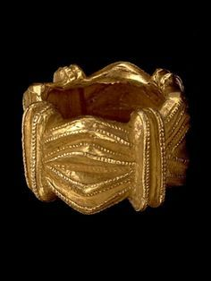 African gold ring