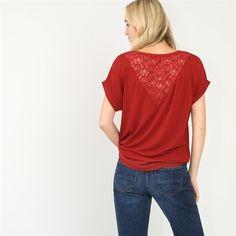 Pimkie.fr : La dentelle amène une touche féminine et romantique au t-shirt manches courtes.