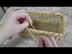 Классическая ЗАГИБКА РОЗГА из газетных трубочек - YouTube Newspaper Basket, Newspaper Crafts, Willow Weaving, Basket Weaving, Handmade Bags, Handmade Crafts, Paper Weaving, Basket Decoration, Weaving Techniques