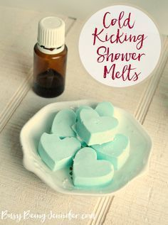 Next time you feel stuffed up, or you're getting that icky-sicky feeling, whip up a batch of these cold kicking shower melts to bring you some relief!