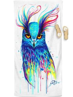 Aurora Owl Beach Towel