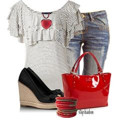 Fun Valentine's Casual outfit~ Tory Burch - Polyvore