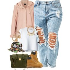 A fashion look from May 2014 featuring Alexander Wang t-shirts, Topshop jackets and Timberland ankle booties. Browse and shop related looks.