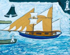 Alfred Wallis, 'The Blue Ship' ?c.1934