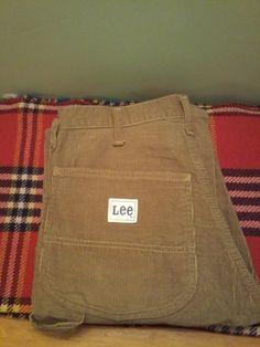 4aab68631734 Vintage Unisex Brown Corduroy Straight Cut Pants by VintageMixWest on Etsy
