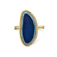 Dramatic blue agate cuff... for $44.07