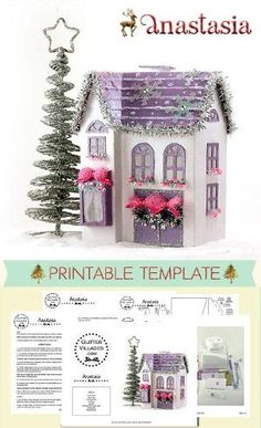 DIY printable Christmas village house pattern. Make it out of paper just like the old Putz villages by karenkaro.hilton