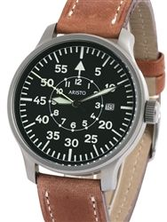 Aristo 3H80 42mm Quartz Pilot's Watch with Sandblasted Case