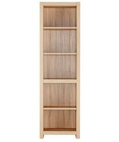 Sicily 4 Shelf Bookcase Oak Effect