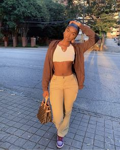 Baddie Outfits Casual, Cute Swag Outfits, Dope Outfits, Trendy Outfits, Fall Outfits, Tomboy Fashion, Look Fashion, Streetwear Fashion, Girl Fashion