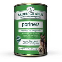 Arden Grange Partners Lamb Rice Vegetable Dog Food 4 x 6 x 395g Arden Grange Partners Fresh Lamb Rice Vegetable Tins can also be used for dogs who enjoy wet food as an accompaniment their diet, dogs who are ill or recuperating or Dogs with a dietary allergy or intolerance to chicken protein (an ideal alternative primary protein source)