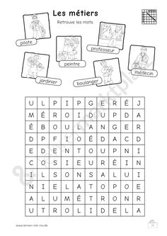 French Words from Breakfast Crossword Puzzle   Teaching-Activities ...