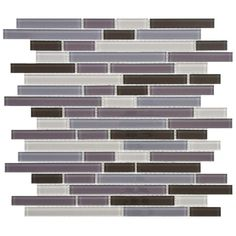 SomerTile 11.75-Inch View Reglia Piano Glass Mosaic Tile (Pack of 17) - Overstock™ Shopping - Big Discounts on Wall Tiles