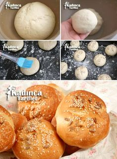 Soft Mini Bread Recipe, How to Make? - Feminine Recipes - Delicious, Practical and Most Exquisite Recipes Site - Dessert Bread Recipes Easy Delicious Recipes, Yummy Food, Tasty, No Salt Recipes, Bread Recipes, Mini Desserts, Dessert Recipes, Mini Hamburger, Kebab