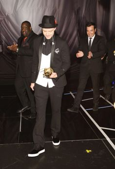 Justin Timberlake reflects on his Video Vanguard award win at the 2013 MTV Video Music Awards in Brooklyn, New York. | MTV Photo Gallery