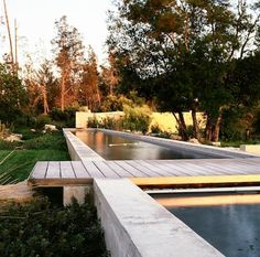 Designed by Eliot Lee of Steven Harris Architects, in conjunction with Blasen Landscape Architecture, a serene pool in Napa