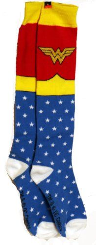 Wonder Woman Superhero Socks - http://geekarmory.com/wonder-woman-superhero-socks #socks #WonderWoman