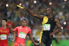 Usain Bolt bid a blazing-fast farewell to the Rio de Janeiro Olympics -- and likely the Olympics altogether -- Friday night with yet another anchor leg for the ages