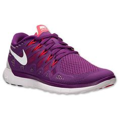 Nike Women's Free 5.0 - Bright Grape/White/Volt Shade/Legion Red (642199-501) #Nike #RunningShoes