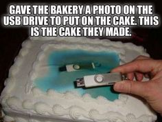 Whether you want a nice written note or an elaborate design on your cake, cake decorating takes some precision and hard work. Unfortunately, these cakes encountered a little misunderstanding. But at least they created a good laugh.