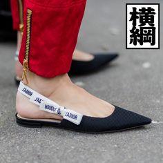 "【ELLE】「ディオール」""J'ADIOR リボン スリングバックシューズ ""|ストリートで定点調査! 春夏トレンドバッグ&靴番付【2017春場所】|エル・オンライン"