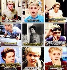 I love Niall's responses lol!
