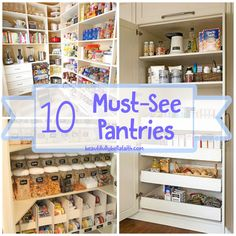 "10 Must-See Pantries That'll Have You Thinking ""Why Didn't I Think of That?"" - City Girls and Country Pearls Kitchen Pantry, Diy Kitchen, Kitchen Decor, Kitchen Tools, Kitchen Storage, Storage Spaces, Kitchen Ideas, Household Organization, Pantry Organization"