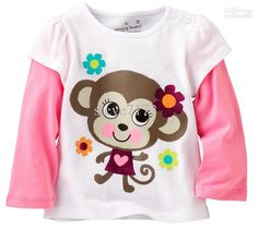 Lovely Girls T- Shirts Spring Long Children Tops Cotton Baby Clothes 1 2 3 4 5 6 Years Tee Shirt Casual Kid Blouses Dresses Kids Girl, Kids Outfits, Baby Girl Tops, Baby Girls, Jumper Outfit, Girls Jumpers, Girl Sleeves, Spring Shirts, T 4