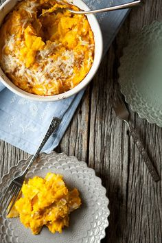 baked cheesy winter squash pasta • five and spice