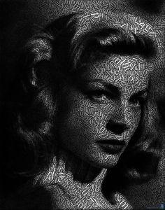 Lauren Bacall by JuanOsborne on deviantART