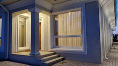 Casa pe parter in Corbeanca | CoArtCo House Foundation, Design Case, Architect Design, House Plans, Stairs, Curtains, Outdoor Decor, Inspiration, Home Decor
