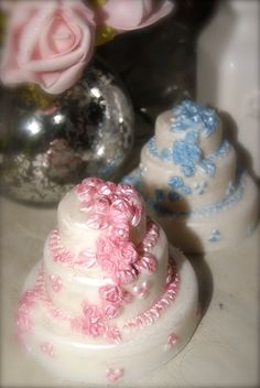 3Tiered Wedding Cake Soap by belleamysoaps on Etsy, $10.00