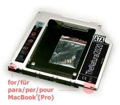 "HDD/SSD SATA III adaptador para MacBook y MacBook Pro Unibody 13"" 15"" 17"" (sustituye SuperDrive) 9.5 mm caddy (SATA - SATA) - TheNatural2020 B0090KFOYS - http://www.tabletsprecios.com/hddssd-sata-iii-adaptador-para-macbook-y-macbook-pro-unibody-13-15-17-sustituye-superdrive-9-5-mm-caddy-sata-sata-thenatural2020-b0090kfoys.html"