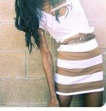 Beige and white stripes!