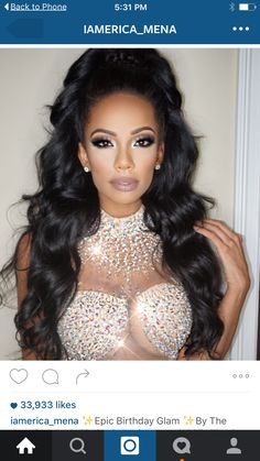 Erica with body wave weave