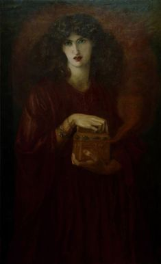 Jane Morris as Pandora by Rossetti, 1871