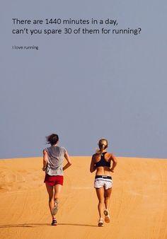 Make time for running.