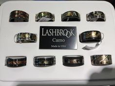 We salute these Lashbrook Camo rings! Some of our favs from Lashbrook