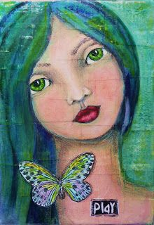 Janie, an Artist on Candy Mountain: Green