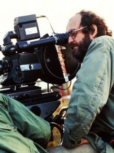 Stanley Kubrick filming Full Metal Jacket
