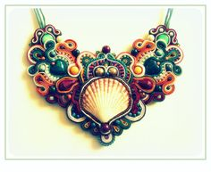 RESERVED FOR Laneeta B. - Colors Of The Earth beautiful kolia made of soutache