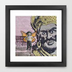 Deb wasn't afraid of much... Framed Art Print by Deb Haugen - $42.00