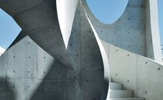 Ellipse Sky by Keiko + Manabu: it's intriguing when concrete appears soft. Adaptive Reuse, Concrete, Cement, Sticks And Stones, Geometric Lines, Built Environment, Architectural Elements, Stairways, Interior Architecture