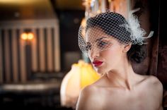 Bridal White Headpiece Wedding Hair Accessory  by KristineBridal, $25.00