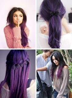 purple hair ombre | posts related to purple black hair tumblr dark purple hair color ...