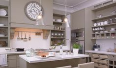 Everything has a place in this gray kitchen.